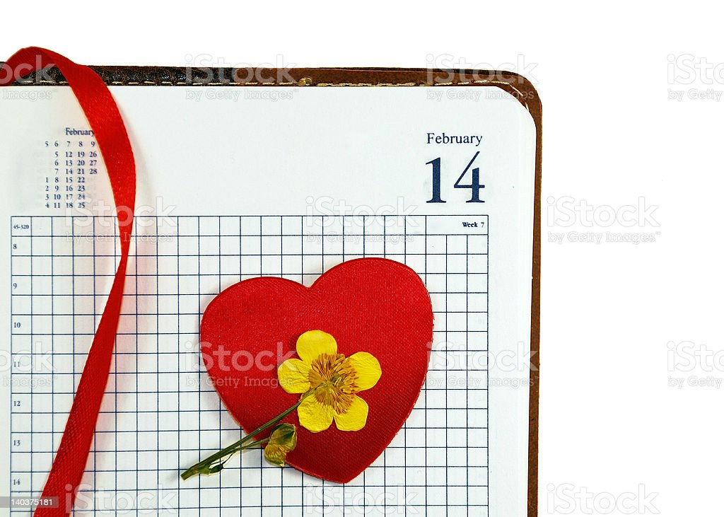 Valentines in the dairy royalty-free stock photo