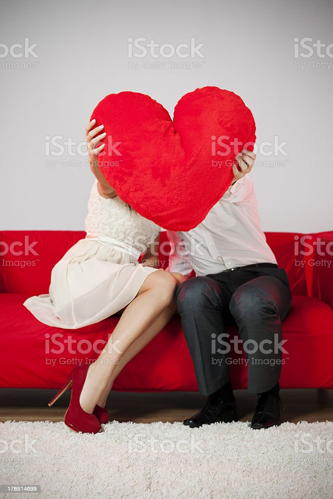 Valentine's kiss stock photo