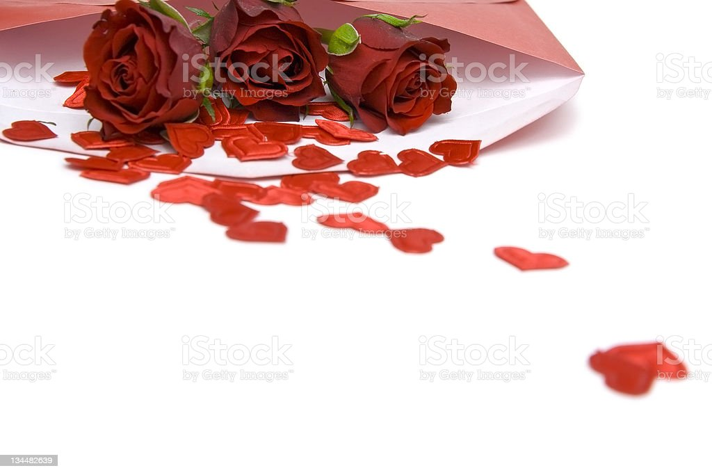 Valentine's letter royalty-free stock photo