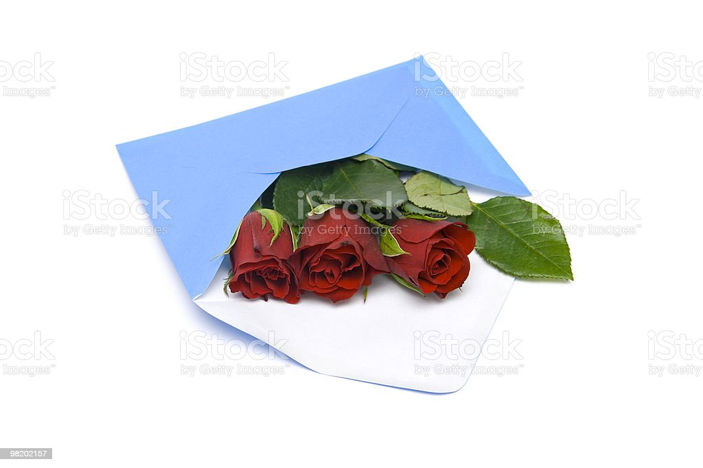Lettera di San Valentino foto stock royalty-free