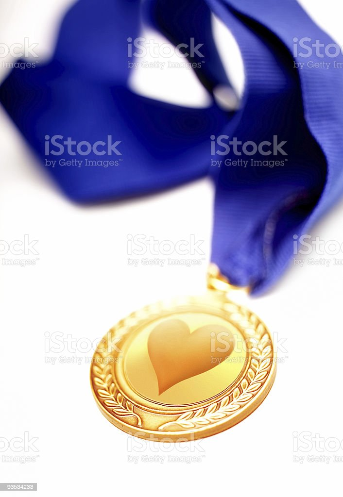 valentines love medal royalty-free stock photo
