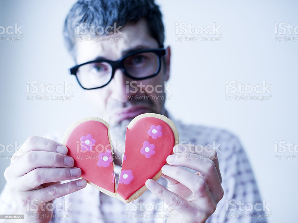Valentine's Nerd stock photo