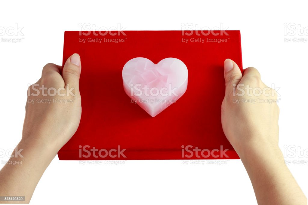 Valentine's pink heart stock photo