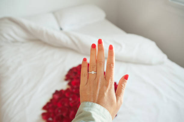 Valentine's proposal stock photo