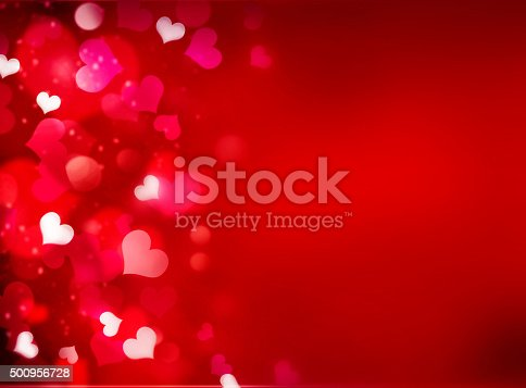896306118istockphoto Valentine's red bright background with empty copy space. 500956728
