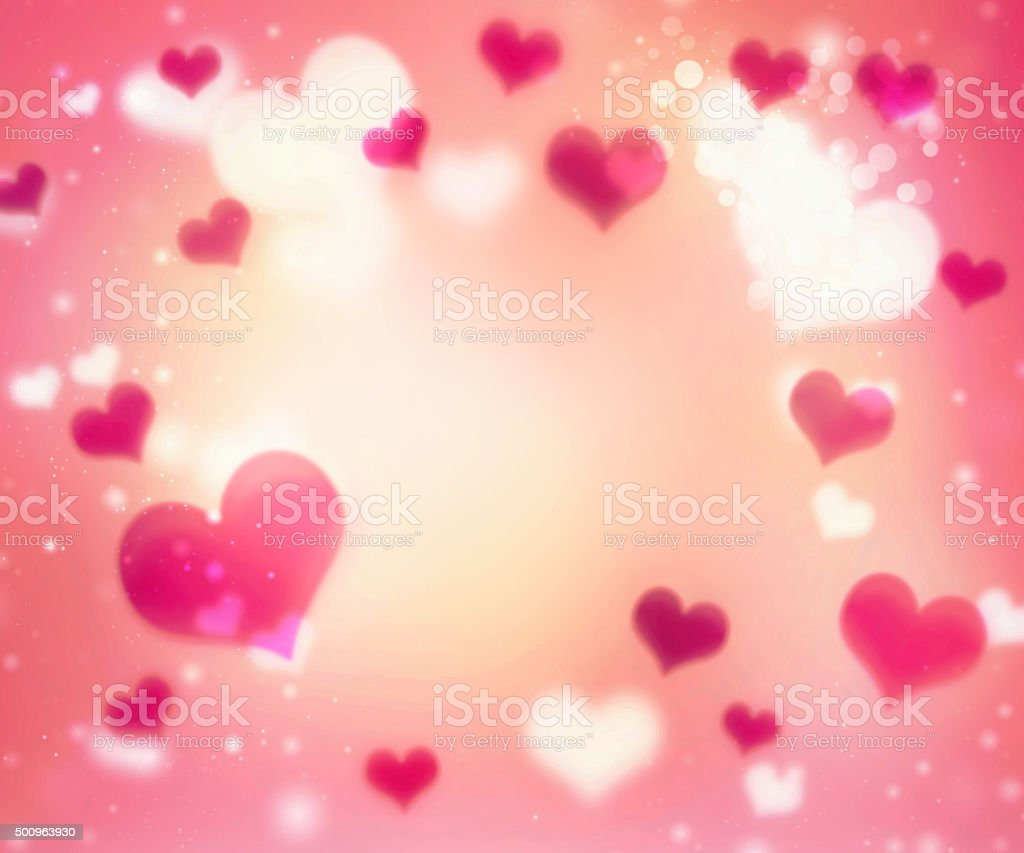 Valentine's red bright background with empty copy space. stock photo