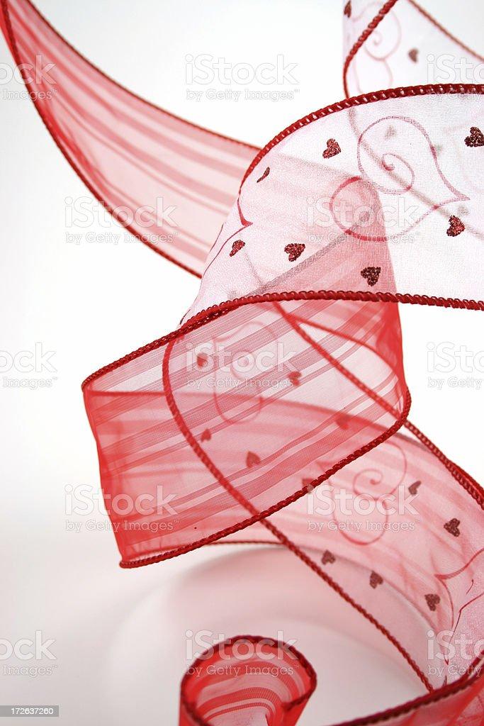 Valentine's Ribbon royalty-free stock photo
