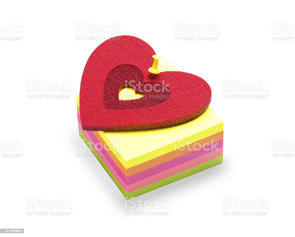 valentines sticky note royalty-free stock photo