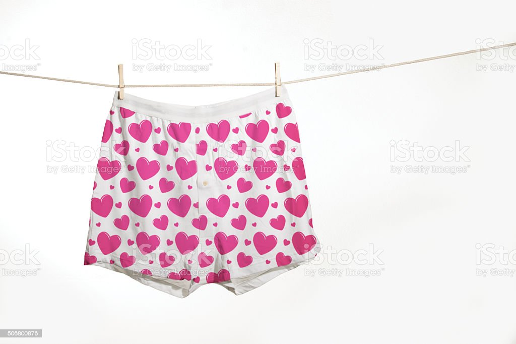 Valentines underwear stock photo