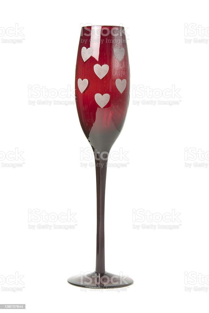 Valentines Wine Glass 1 royalty-free stock photo