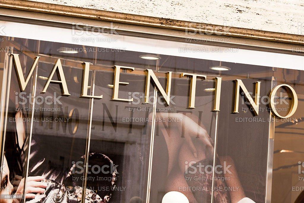 Valentino Store in Rome stock photo