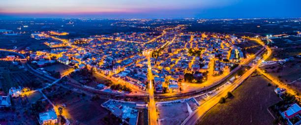 Valenzano, Bari,Italy,Twilight Aerial stock photo