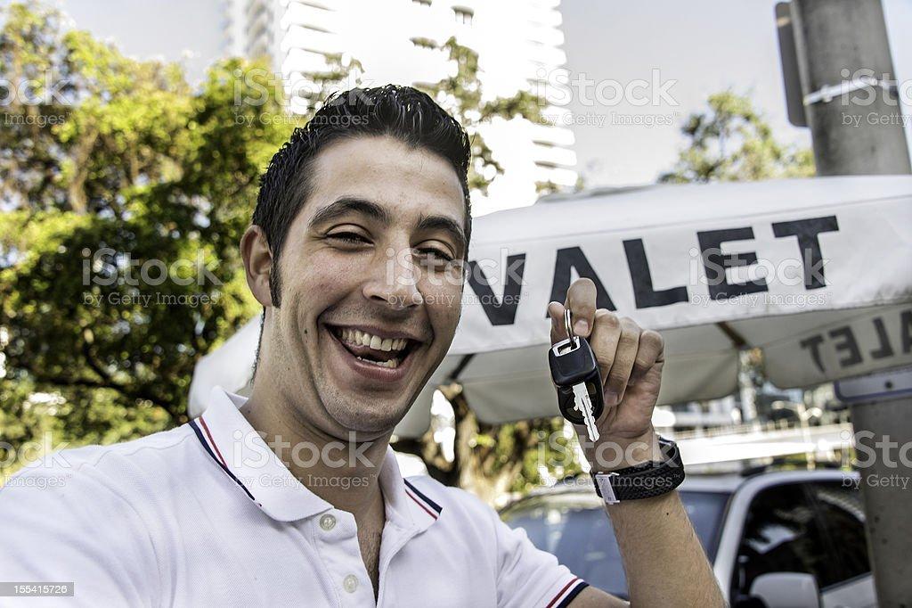 Valet Boy stock photo