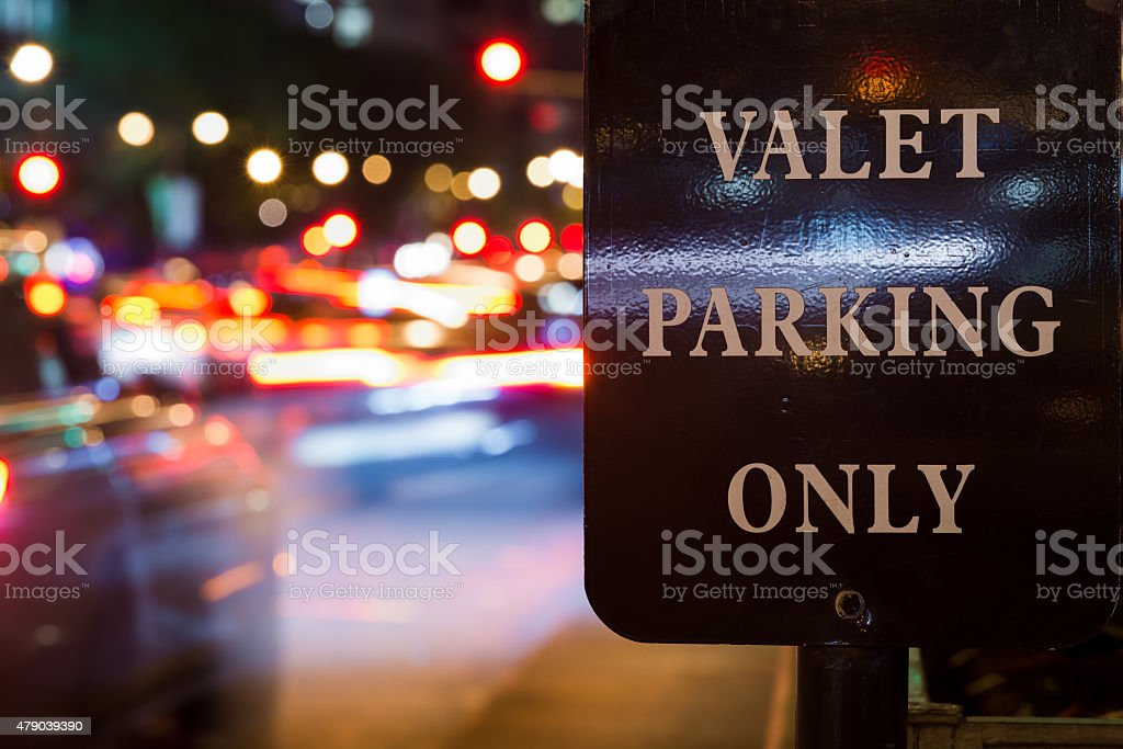Valet Parking Only stock photo