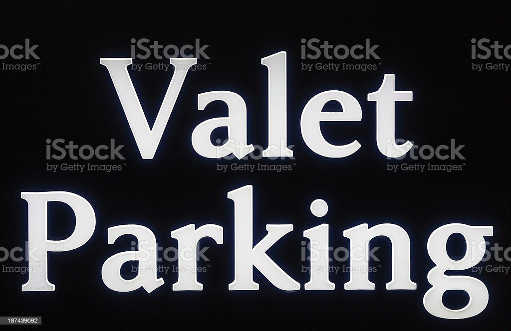 Valet Parking Sign royalty-free stock photo