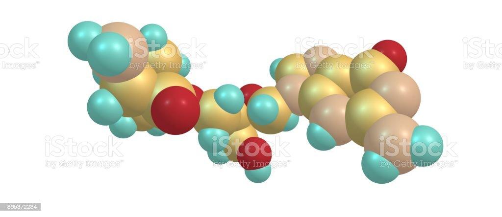 Valganciclovir molecular structure isolated on white stock photo