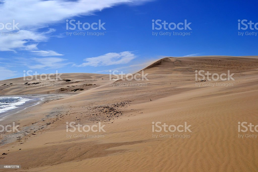 Valizas dunes stock photo