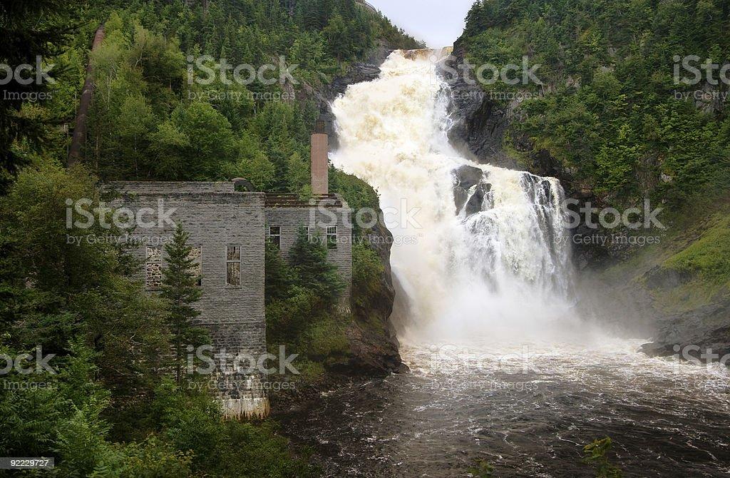 Val-Jalbert Waterfalls stock photo