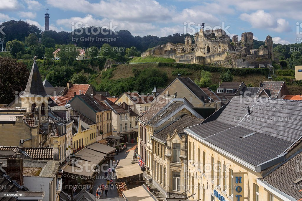 Valkenburg Castle and town - Netherlands stock photo