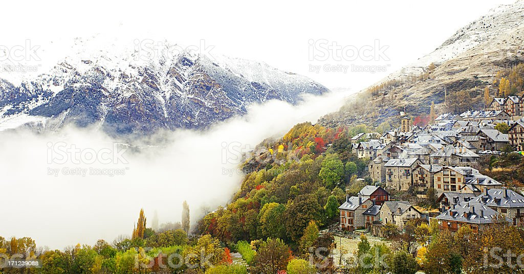 Vall d'aran stock photo