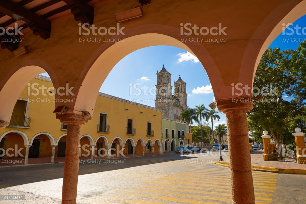 Valladolid city of Yucatan Mexico stock photo