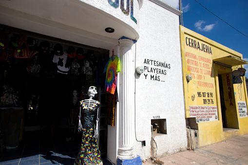 Valladolid, Yucatan, Mexico: Shop with Skeleton as Mannequin