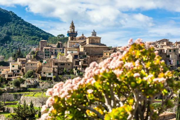 Valldemossa Mallorca mit Blumen – Foto