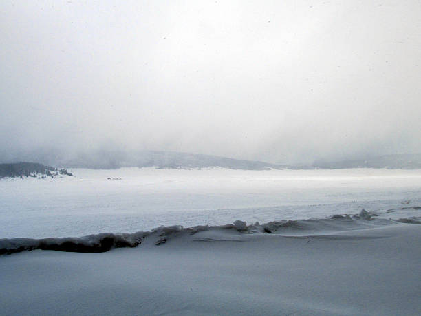 Valle Caldera Storm stock photo