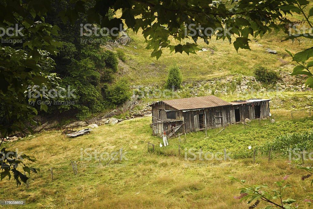 valle crucis barnyard royalty-free stock photo