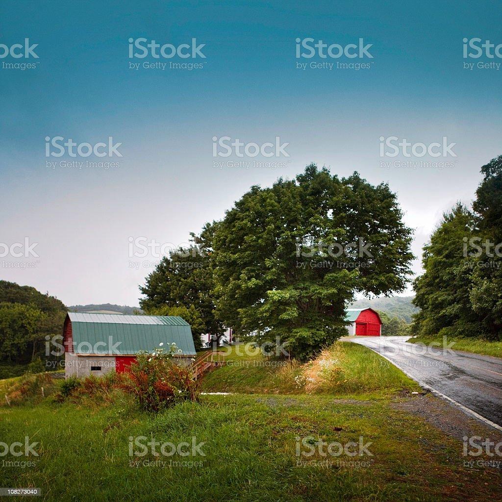 valle crucis landscape royalty-free stock photo