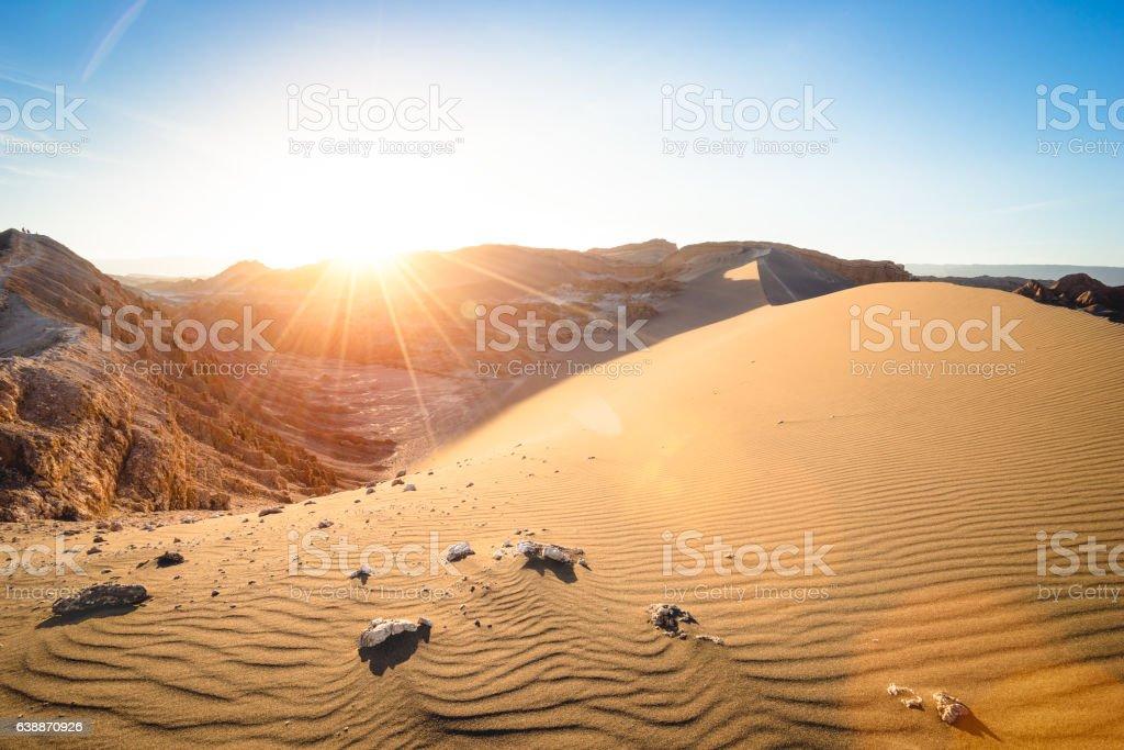 ' Valle De La Luna' at Atacama Desert in Chile stock photo