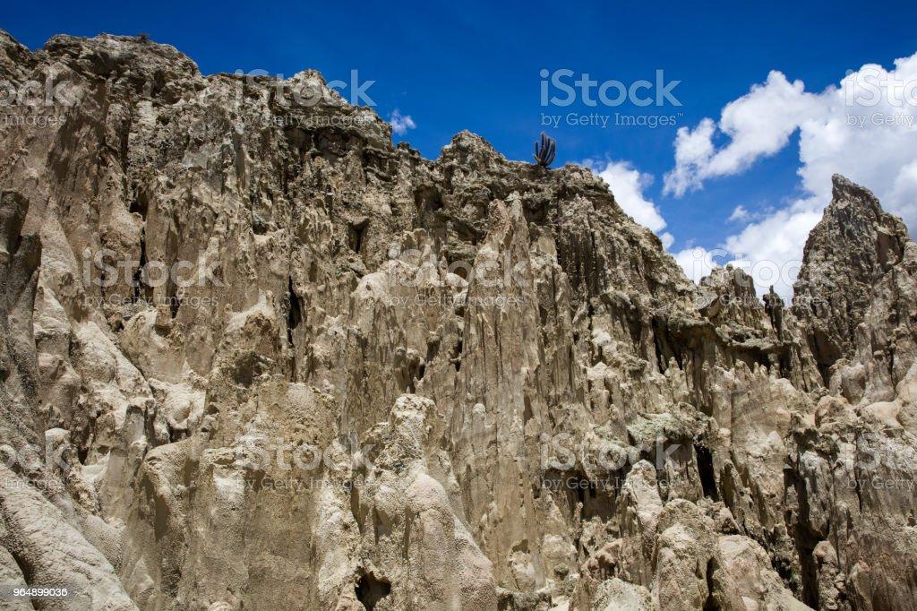 Valle de la luna in Bolivia royalty-free stock photo