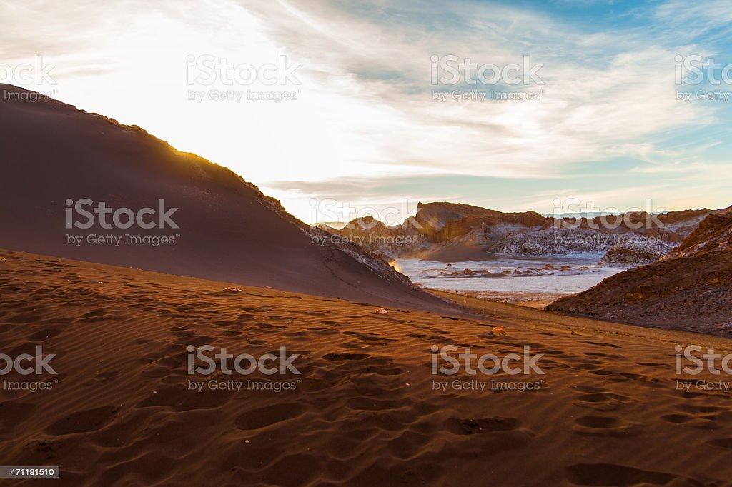 Valle de la luna in Chile stock photo