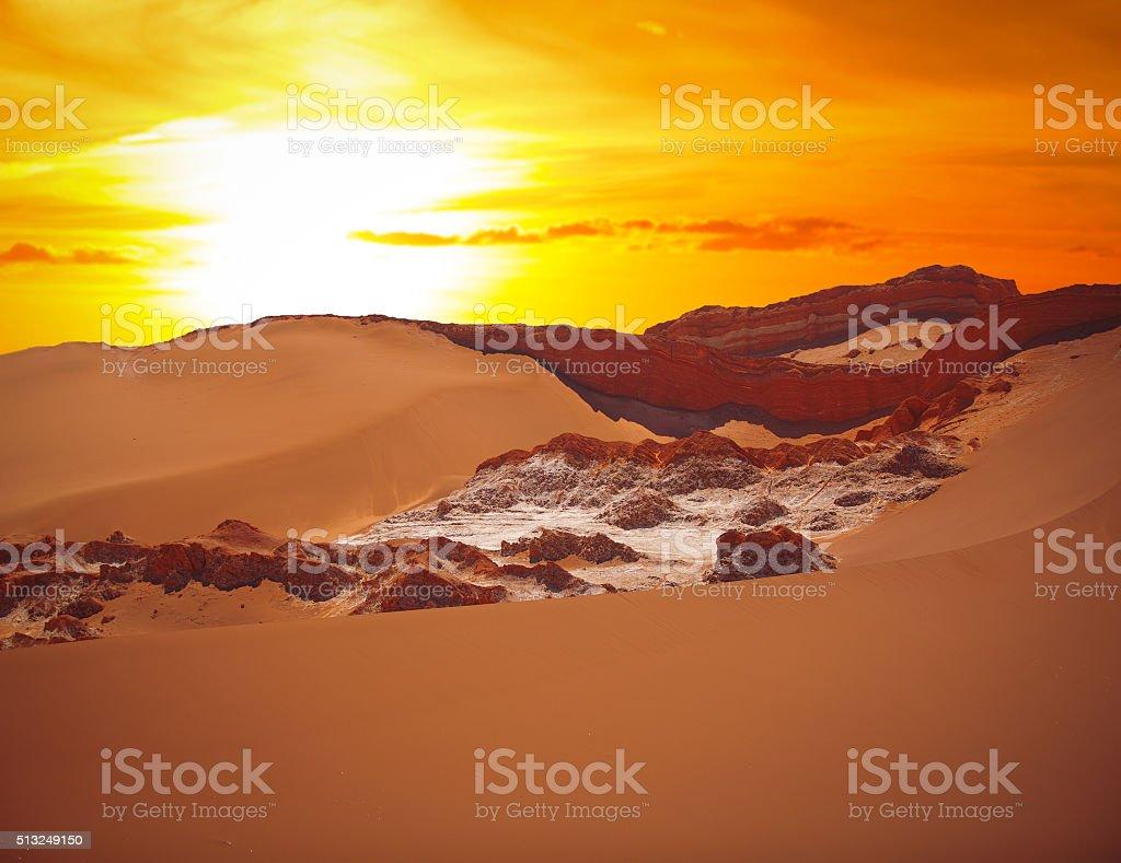 Valle de la Luna (Moon Valley) stock photo