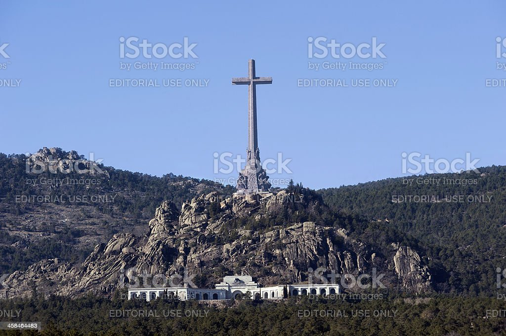 Valle de los caidos, Madrid, Spain stock photo