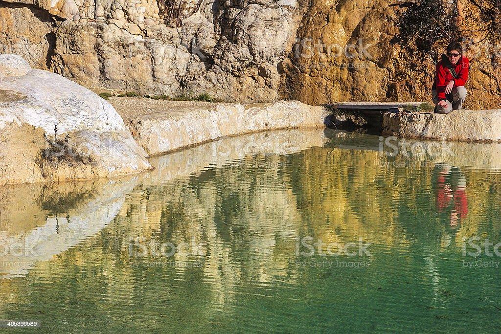 Valle dei Mulini, Bagno Vignoni, Italy royalty-free stock photo