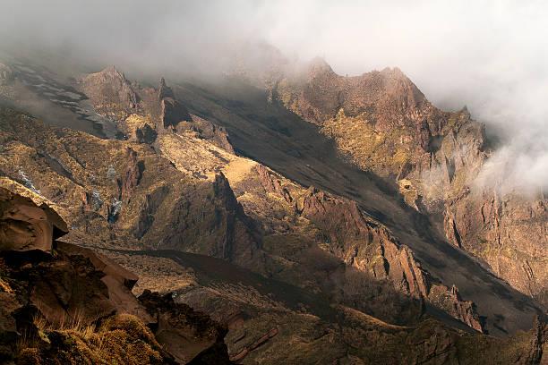 Valle del bove Etna stock photo