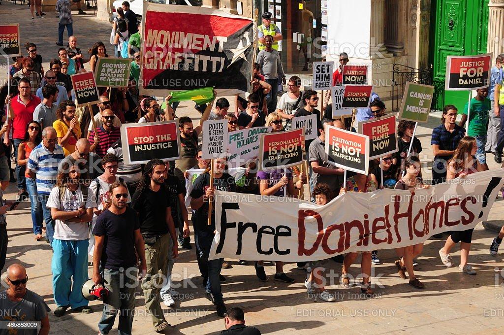 Valletta Demonstration, Malta. royalty-free stock photo