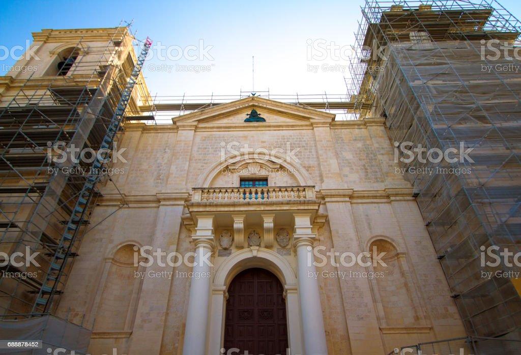 Valletta, Malta: St John's Cathedral Under Renovation stock photo