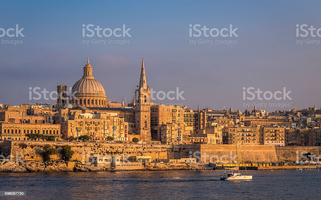 Valletta, Malta - The beautiful St.Paul's Cathedral royalty-free stock photo