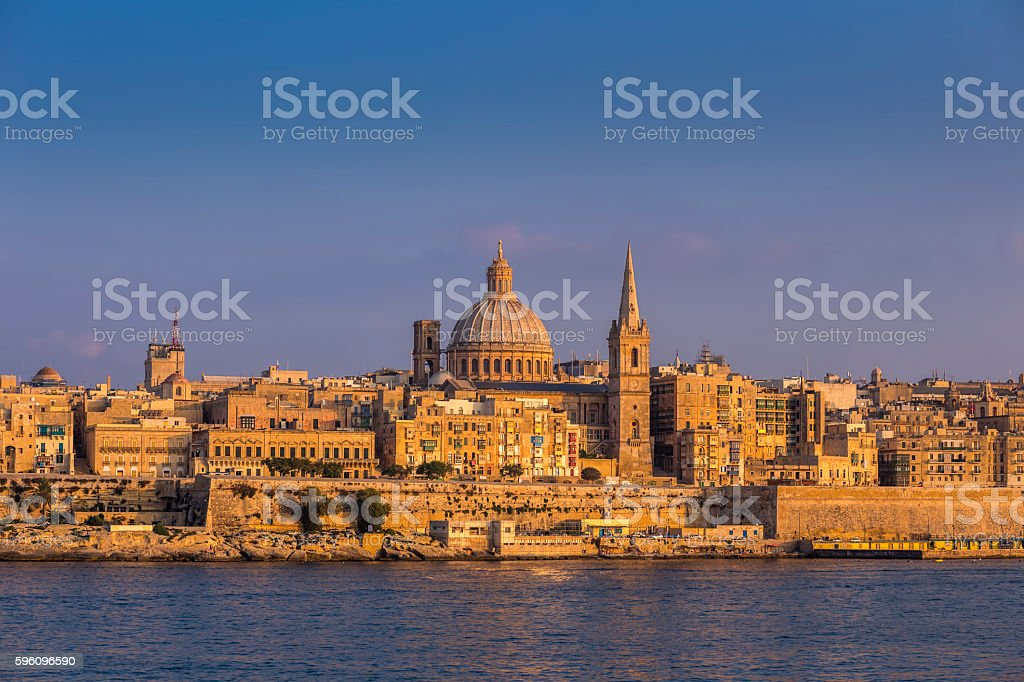 Valletta, Malta - The famous St.Paul's Cathedral at Valletta royalty-free stock photo