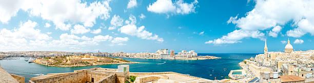 panorama de Valletta, Malta - foto de acervo