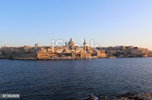 istock Valletta, Panoramic View, Capital City, Republic of Malta 821904828