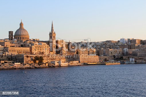 istock Valletta, Panoramic View, Capital City, Republic of Malta 822357358