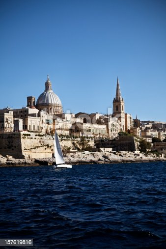 The Western side of Valletta - a fortified city