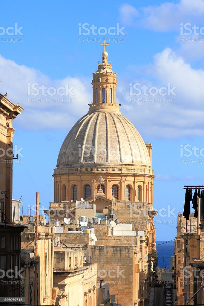Valletta skyline, Malta royalty-free stock photo