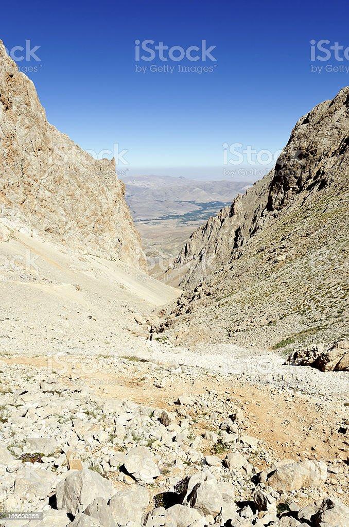 Valley at Taurus Mountains Aladaglar royalty-free stock photo