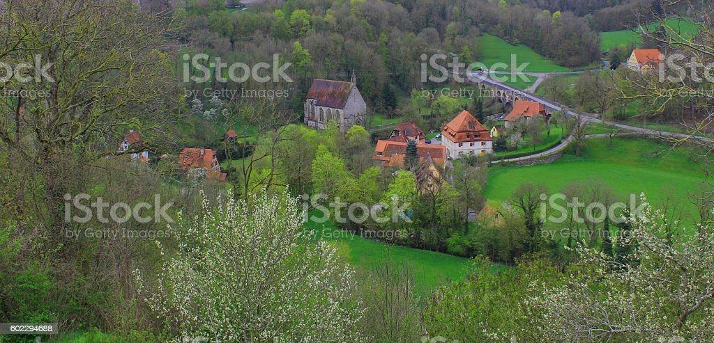 Valley church, Rothenburg, Germany stock photo