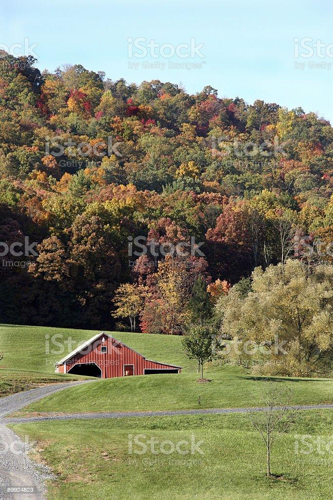 Valley Farm royalty-free stock photo