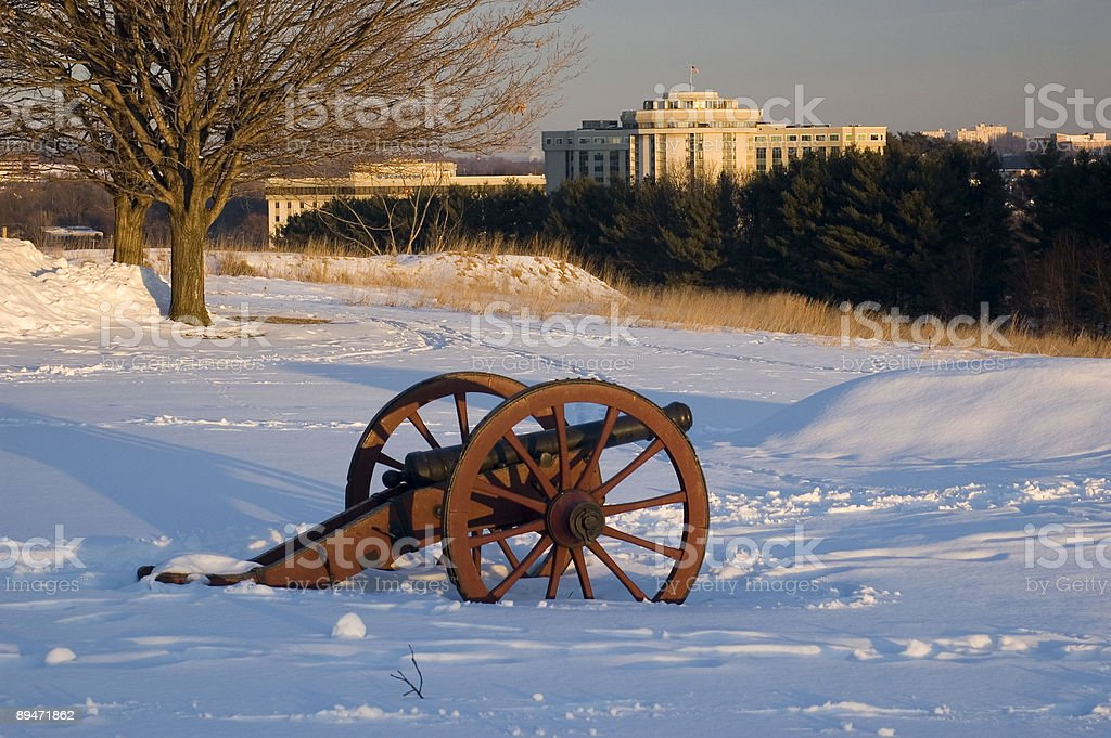 Valley Forge in Winter royalty-free stock photo